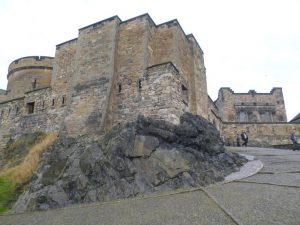 Edinburgh Castle on dolerite plug