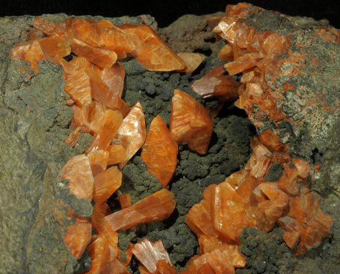 Heulandite from the National Museums Collection Centre. © National Museums Scotland