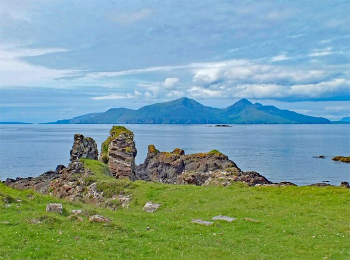 Isle of Rum from Isle of Muck - Copyright: Howard Turner
