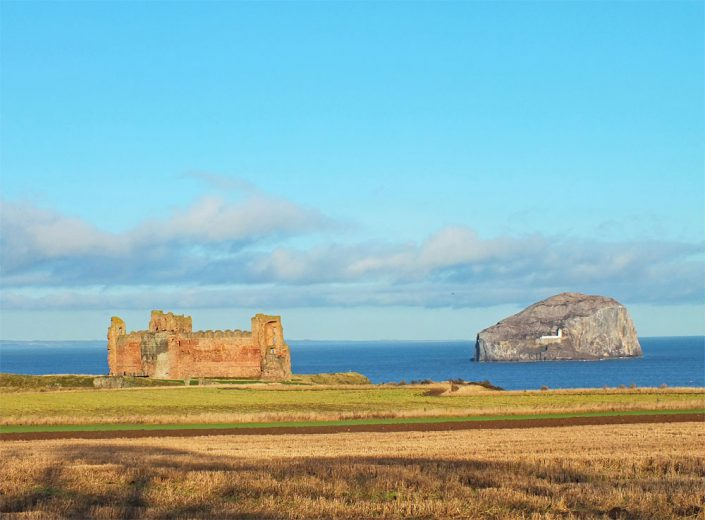 Tantallon Castle and Bass Rock - Copyright Howard Turner