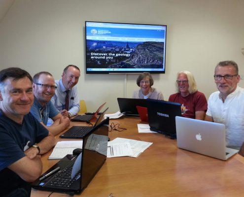 The website team at work